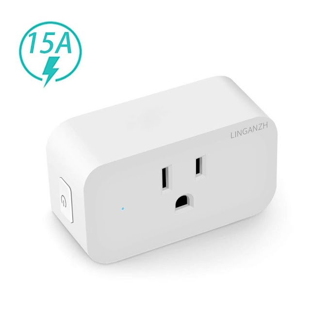 50%OFF Wi-Fi Smart Plug,LINGANZH Wireless Mini WiFi Outlet Smart