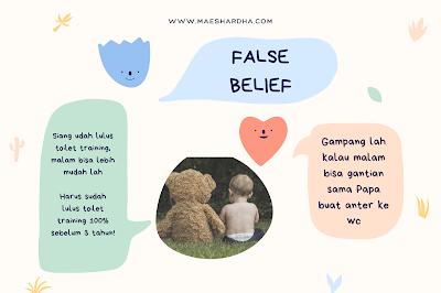 false belief dalam toilet training