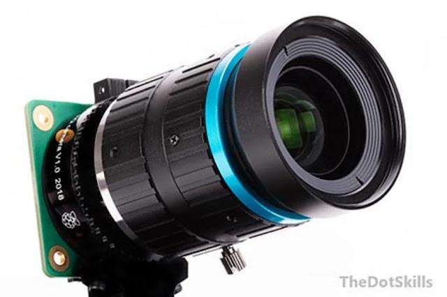 Raspberry Pi : appareil photo avec un système d'objectifs.