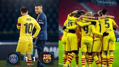 PSG ke Perempat Final Liga Champions Setelah Leg 2 Tahan Imbang Barcelona     1-1