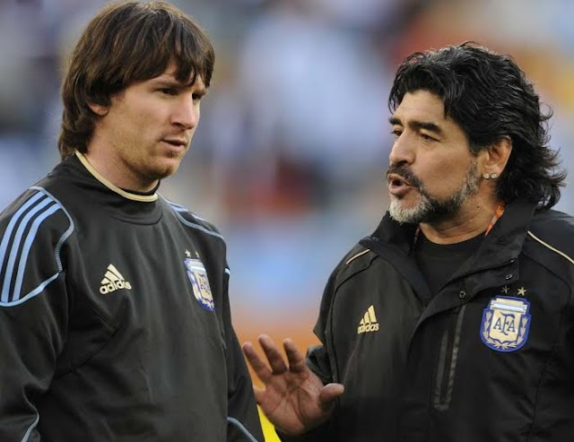 Diego Maradona tells Pele that Lionel Messi is A Good Guy But lacks The personality, To Lead