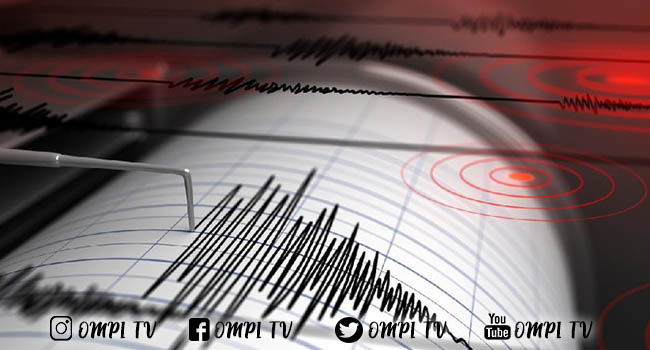 Gempa dengan Magnitudo 5,3 Guncang Ternate