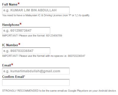 grabcar malaysiacontact number