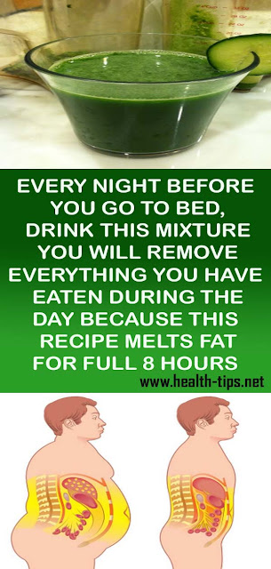 EVERY NIGHT BEFORE YOU GO TO BED, DRINK THIS MIXTURE: YOU WILL REMOVE EVERYTHING YOU HAVE EATEN DURING THE DAY BECAUSE THIS RECIPE MELTS FAT FOR FULL 8 HOURS#NATURALREMEDIES