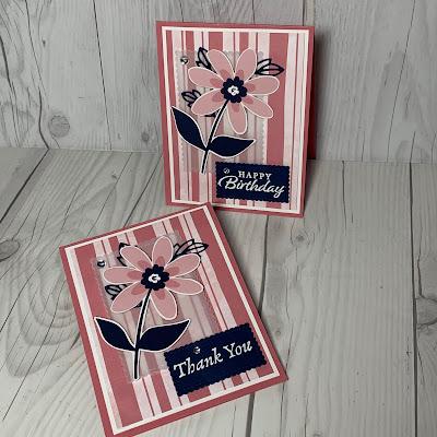Floral Cards using Stampin' Up! Paper Blooms Designer Series Paper