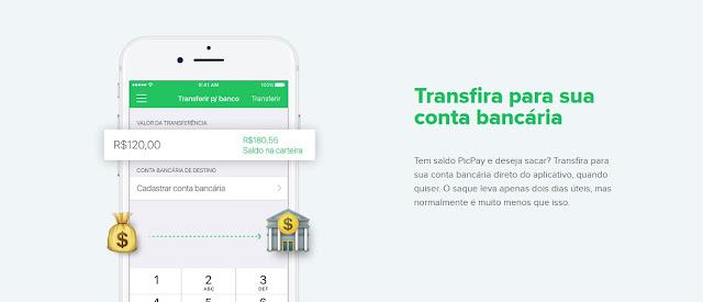 transferência bancária com o picpay