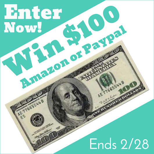 Win $100 Amazon or Paypal Giveaway