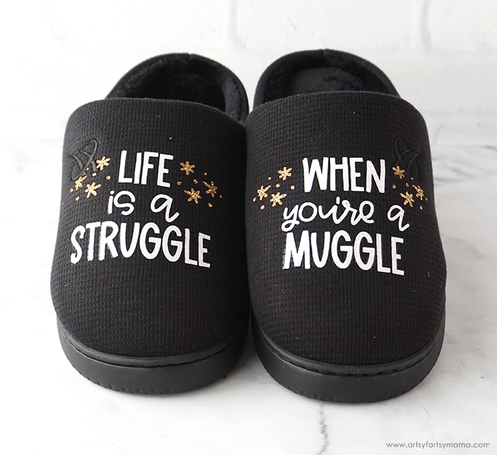 Harry Potter Muggle Slippers with Free Cut File