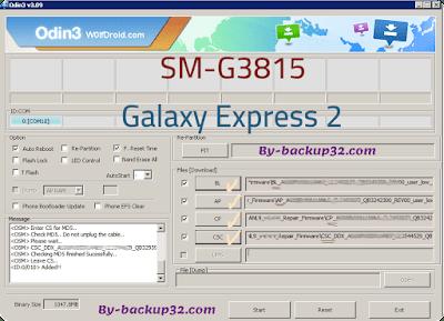 سوفت وير هاتف Galaxy Express 2 موديل SM-G3815 روم الاصلاح 4 ملفات تحميل مباشر