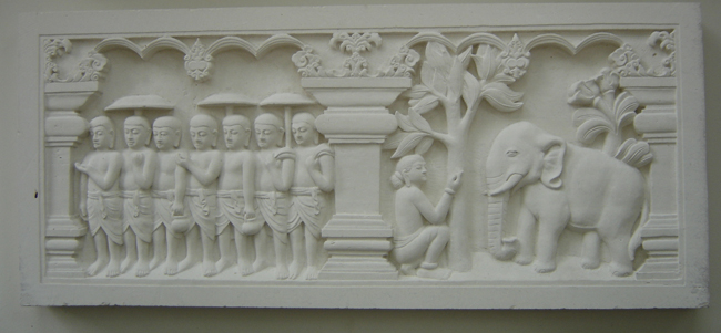 Grabados de Buda en Yakarta