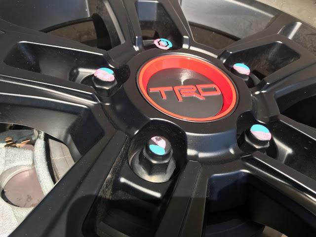 Wheel hub detail of 2020 Toyota Tundra TRD Pro CrewMax