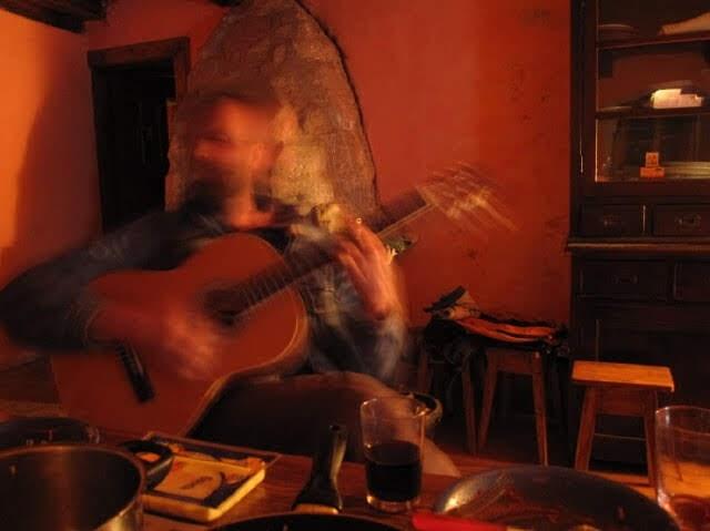 Wim Hof Playing Guitar
