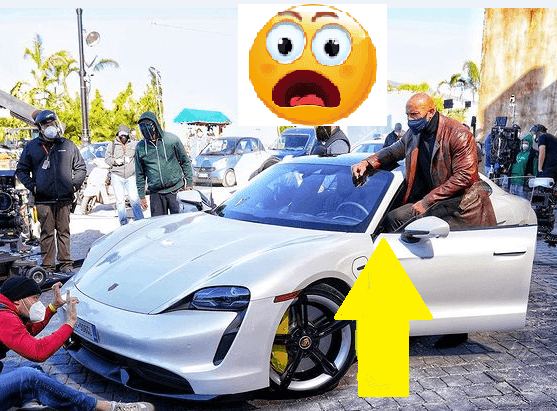 Dwayne Johnson  The Rock can't fit in a Porsche Taycan