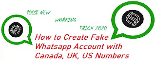 How to Create Fake Whatsapp Account with Canada UK US Numbers