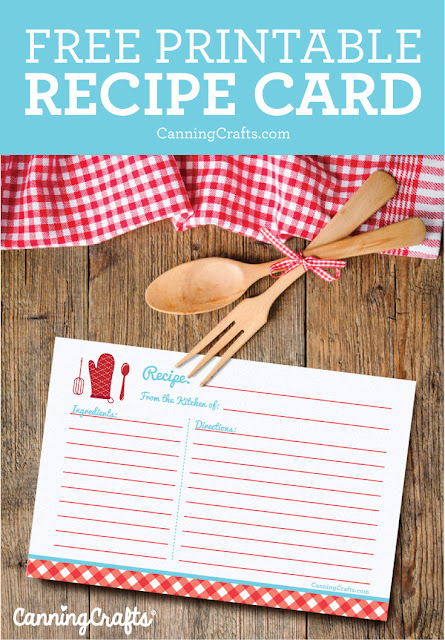 free printable recipe card