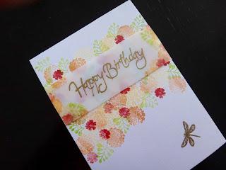 Cardio Majestix Dragonfly Garden Handmade Birthday Card