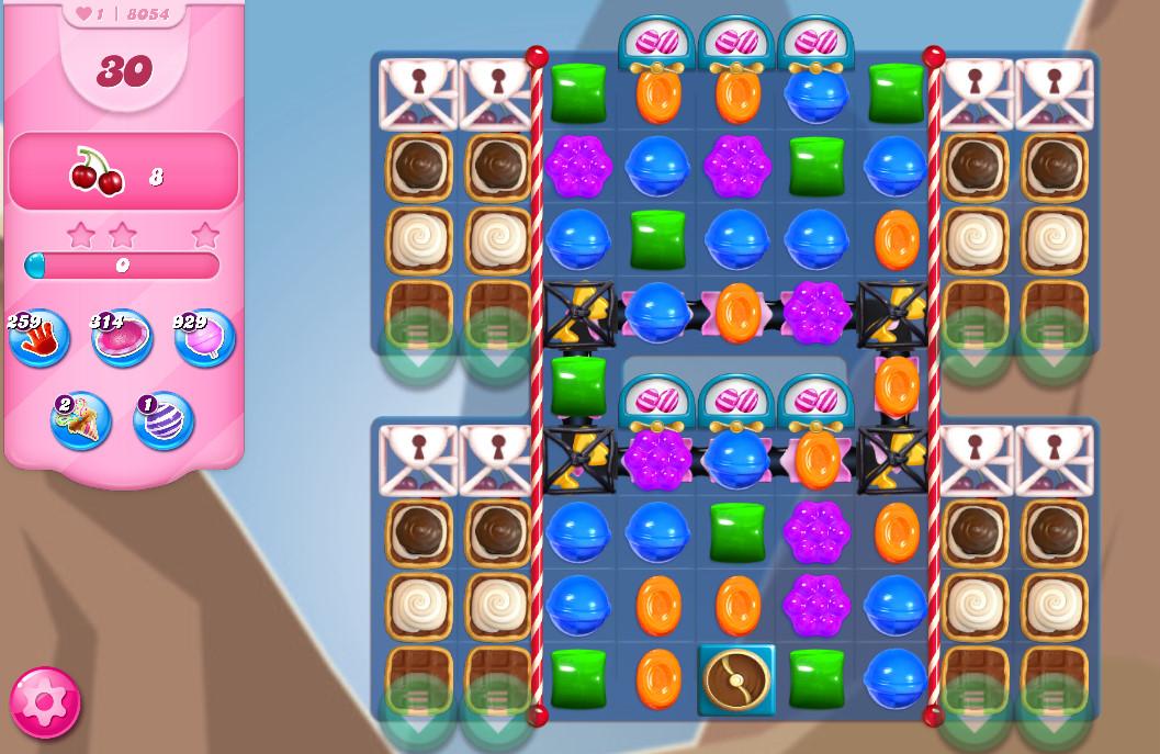 Candy Crush Saga level 8054