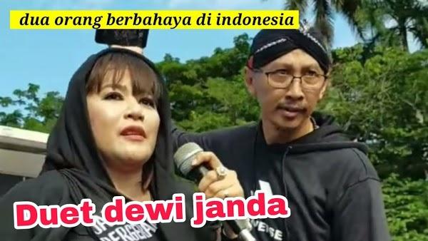 Lantang Kritik Anies, Siapa Abu Janda dan Dewi Tanjung?