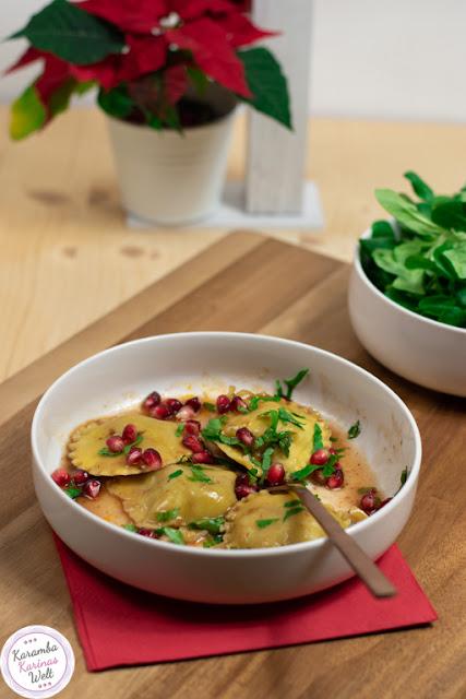 Rezept für Ravioli mit Gänsefleisch-Maronen-Füllung