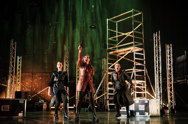 Wagner: Die Walküre - Bethan Langford, Elizabeth Karani, Katie Stevenson - Arcola Theatre's Grimeborn Festival at Hackney Empire  (Photo Alex Brenner)