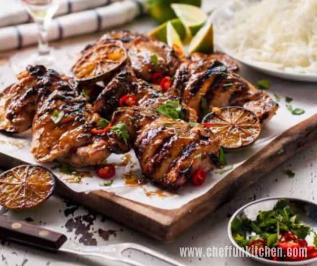 Grilled Marinated Thai Chicken