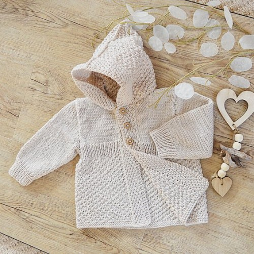 Mayfair Lane Baby Coat With Hood - Knitting Pattern