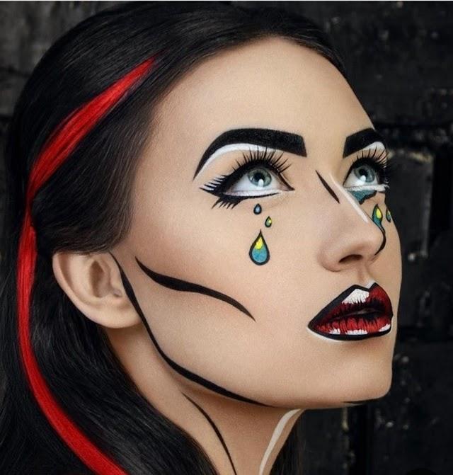 Cadılar Bayramında Çılgın Fantastik Eğlenceli Ruhunuzu Yansıtan Pop Art Makyaj Nasıl Yapılır?