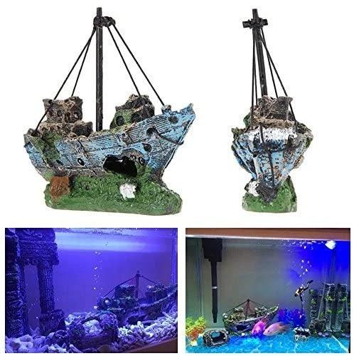 Superdream-Resin-Fishing-Boat-Aquarium