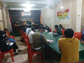 Kapolres Pangkep mengikuti Rapat Koordinasi pengawasan dan penindakan Protokol Kesehatan.