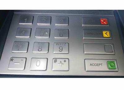 Tombol Mesin ATM
