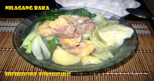 Nilagang Baka (Beef Brisket Soup With Vegetables) Recipe