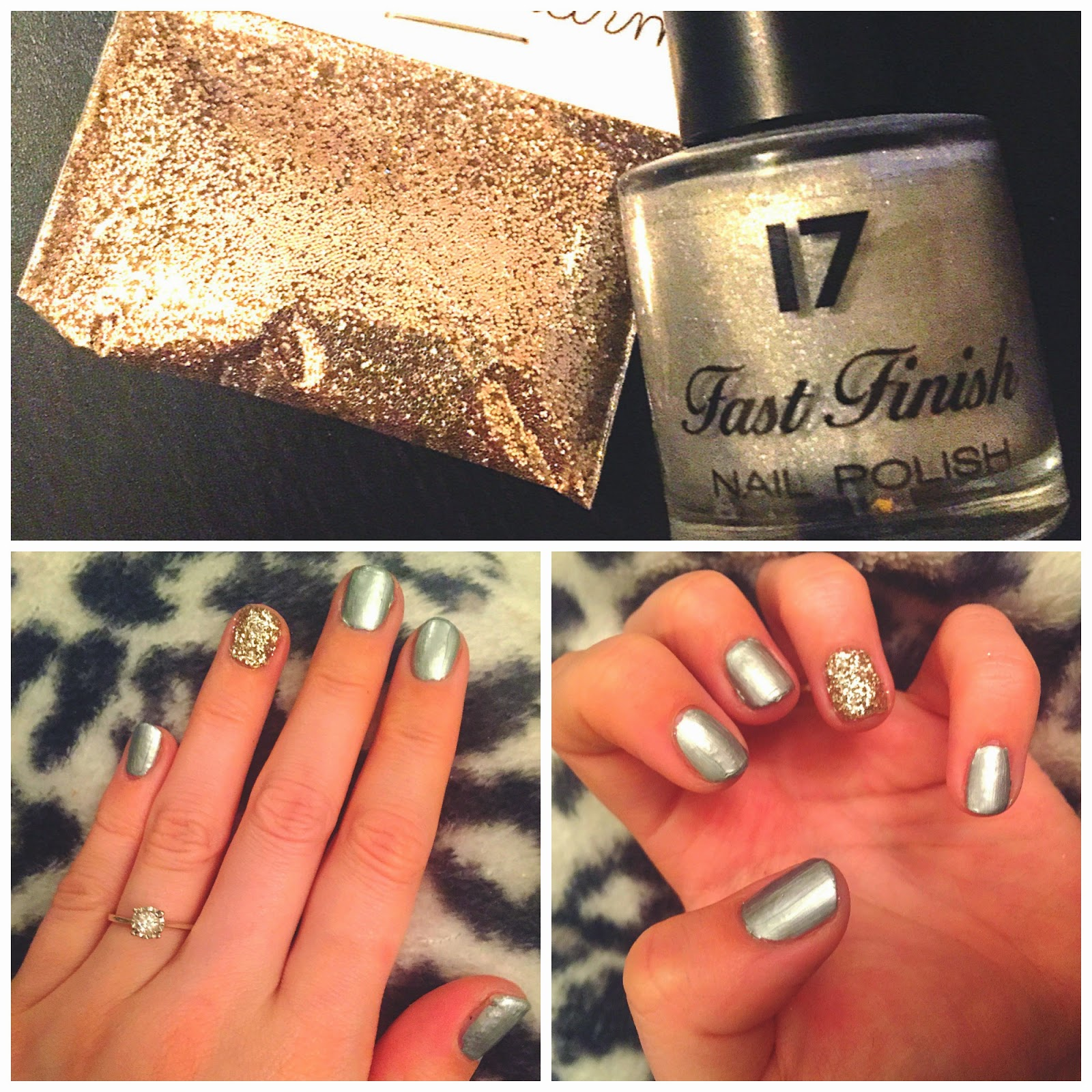 Party nails | Party nail art | Glitter nail art