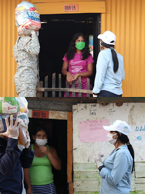 Tres barrios de Riohacha recibieron más de mil mercados por parte de la administración distrital