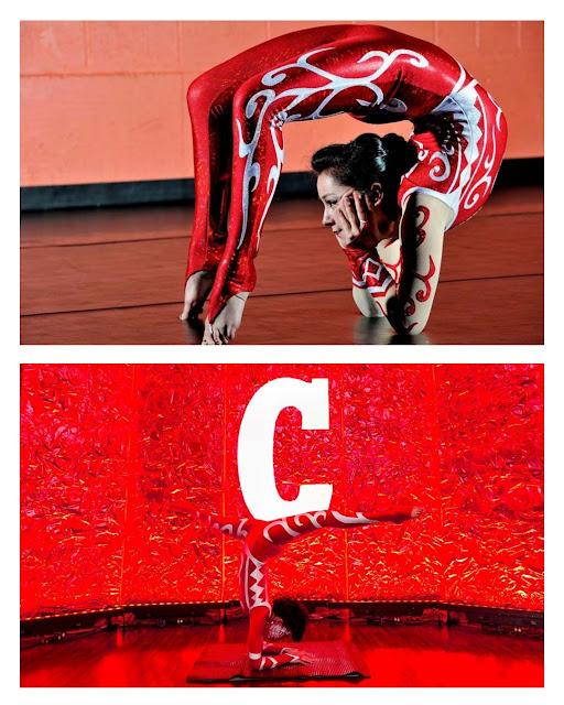Artista circense com figurino das cores da marca para evento Campari Red Experience em Salvador BA.