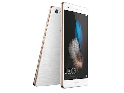 Huawei P8lite Specifications- LAUNCH AlsoKnownAs Huawei ALE-L21 Announced 2015, April DISPLAY Type IPS LCD capacitive touchscreen, 16M colors Size 5.0 inches, 68.9 cm2 (~68.3% screen-to-body ratio) Resolution 720 x 1280 pixels, 16:9 ratio (~294 ppi density) Multitouch Yes Protection Corning Gorilla Glass 3  - Emotion 3.1 UI BODY Dimensions 143 x 70.6 x 7.7 mm (5.63 x 2.78 x 0.30 in) Weight 131 g (4.62 oz) SIM Hybrid Dual SIM (Micro-SIM/Nano-SIM, dual stand-by) Build Plastic body PLATFORM OS Android 5.0.2 (Lollipop), upgradable to 6.0 (Marshmallow) CPU Octa-core 1.2 GHz Cortex-A53 Chipset HiSilicon Kirin 620 GPU Mali-450MP4 MEMORY Card slot microSD, up to 256 GB (uses SIM 2 slot) Internal 16 GB, 2 GB RAM CAMERA Primary 13 MP (f/2.0, 27mm), autofocus, dual-LED flash Secondary 5 MP, 720p Features Geo-tagging, touch focus, face/smile detection, panorama, HDR Video 1080p@30fps NETWORK Technology GSM / HSPA / LTE 2G bands GSM 850 / 900 / 1800 / 1900 - SIM 1 & SIM 2 3G bands HSDPA 900 / 1900 / 2100 4G bands LTE band 3(1800), 7(2600), 8(900), 20(800) Speed HSPA 42.2/5.76 Mbps, LTE Cat4 150/50 Mbps GPRS Yes EDGE Yes COMMS WLAN Wi-Fi 802.11 b/g/n, Wi-Fi Direct, hotspo NFC Yes GPS Yes, with A-GPS, GLONASS USB microUSB 2.0 Radio FM radio Bluetooth 4.0, A2DP, EDR, LE FEATURES Sensors Accelerometer, proximity, compass Messaging SMS(threaded view), MMS, Email, Push Mail, IM Browser HTML5 Java No SOUND Alert types Vibration; MP3, WAV ringtones Loudspeaker Yes 3.5mm jack Yes  - Active noise cancellation with dedicated mic BATTERY  Non-removable Li-Ion 2200 mAh battery Stand-by Up to 380 h (3G) Talk time Up to 11 h (3G) Music play  MISC Colors Black, White, Gold SAR EU 0.39 W/kg (head)     1.02 W/kg (body)     - XviD/MP4/H.264/WMV player - MP3/eAAC+/WMA/WAV/Flac player - Document viewer - Photo/video editor
