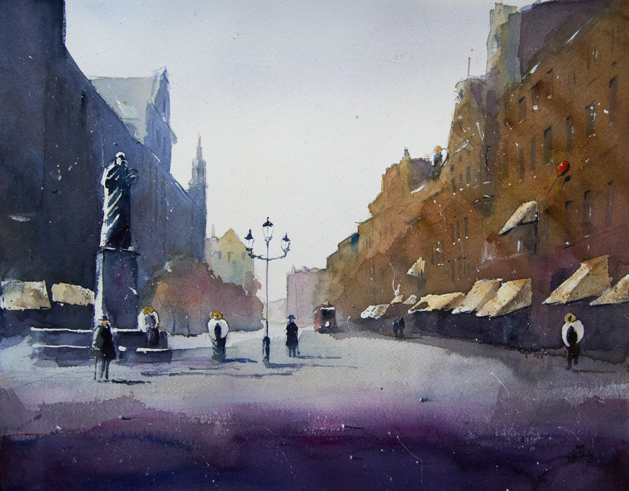 10-A-morning-in-City-of-Angels-Grzegorz-Chudy-sanderus-Dreams-Started-with-Watercolor-Paintings-www-designstack-co