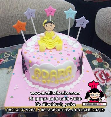 Kue Tart Anak Perempuan Tema Bintang