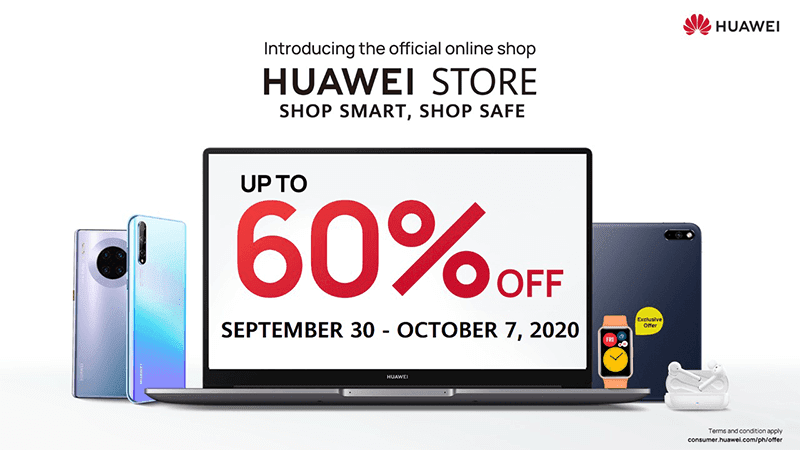 Deal: Get up to 60 percent off select devices during Huawei Store Hot Sale!