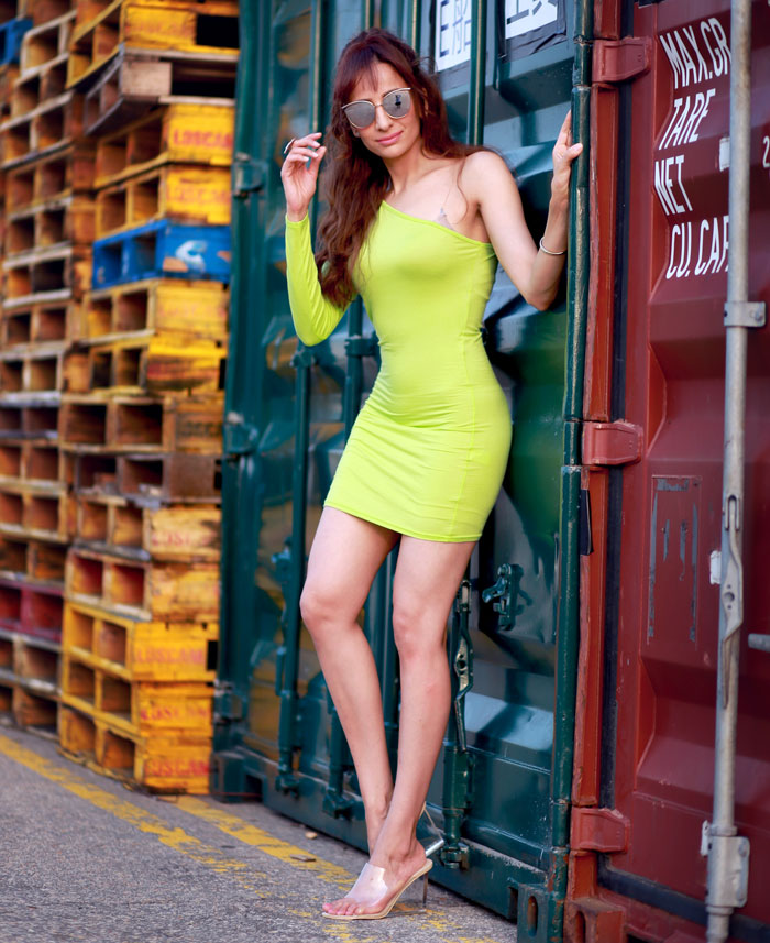 Femme Luxe Lime Green Dress