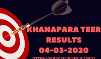 Khanapara Teer Results Today-04-03-2020