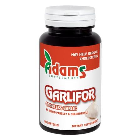 Garlifor 500mg 60cps Adams Supplements Complex de usturoi fara miros