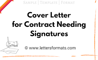 Cover Letter for Contract Needing Signature (Sample)