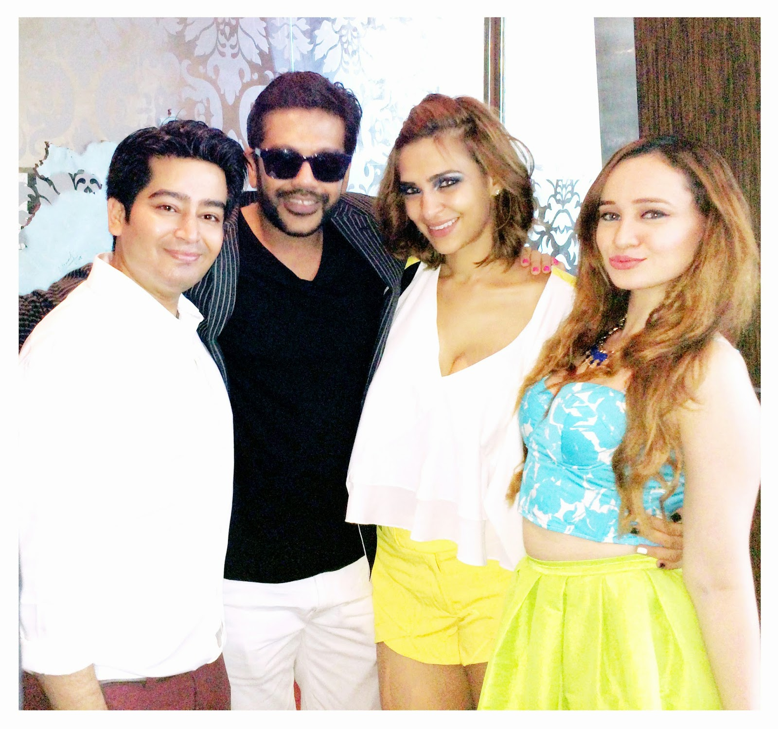Rocky Star, Designer Harsh Gupta, Atiya Goni & Stephanie Timmins at Couture & Canvas Brunch at Sofitel,BKC