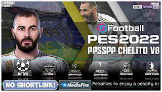 Download PES 2022 PPSSPP English Commentary Chelito V8 Special Real Madrid & Full Transfer