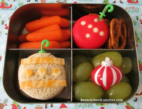 Christmas Ornaments themed lunch.