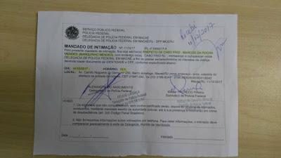 Prefeito Marquinho Mendes, de Cabo Frio falta a depoimento na PF