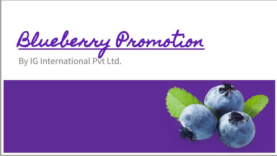 Blueberry FoodTech: Congratulations to IG International - India