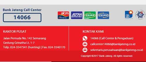 alamat, kontak dan alamat email bank jateng