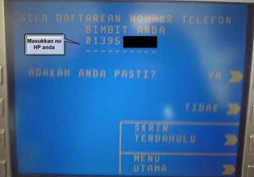 3 Langkah Mudah Tukar Nombor Telefon Tac Maybank Pada Mesin Atm Selongkar10