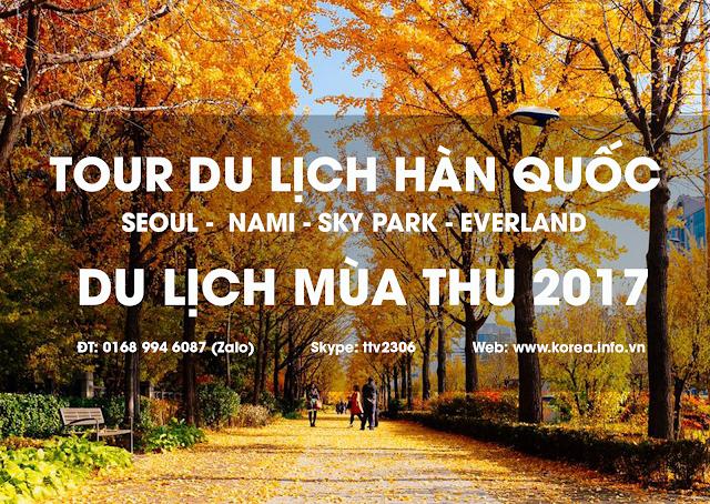 Tour du lịch Hàn Quốc mùa thu giá rẻ